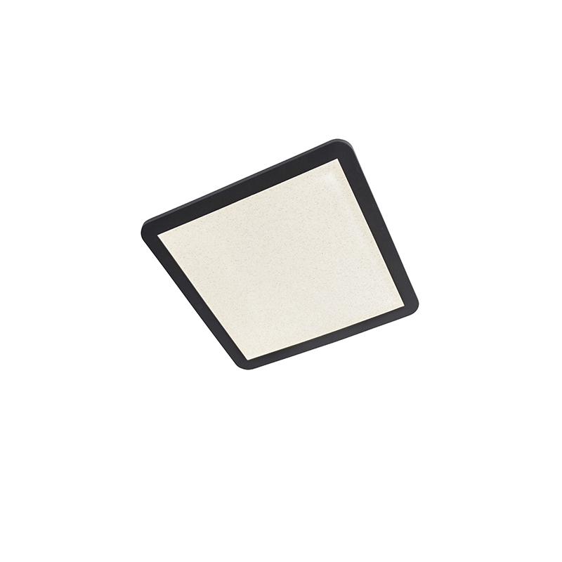 Plafondlamp zwart 40 cm incl. LED 3-staps dimbaar - Steve