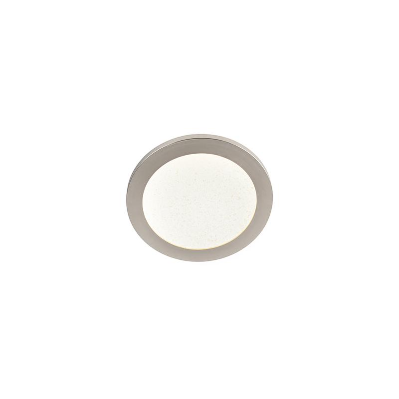 Plafondlamp 22,5 cm incl. LED 3-staps dimbaar IP44 - Steve