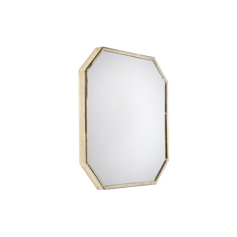 Retro vierkante spiegel 41x41cm goud - Stern