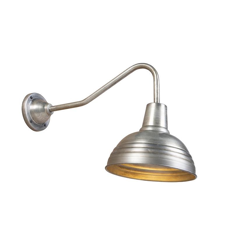 Industri�le wandlamp antiek zink - Tay