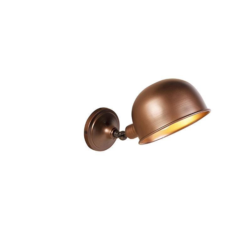 Industri�le wandlamp antiek koper - Spey