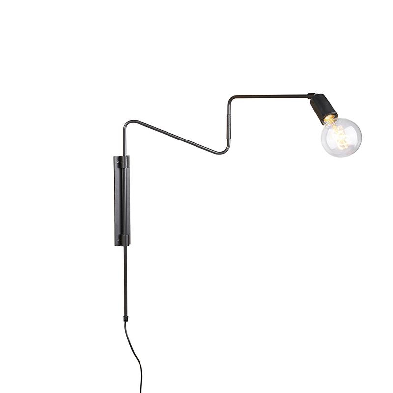 Industri�le wandlamp antraciet 70 cm zwenkbaar - Serpenti