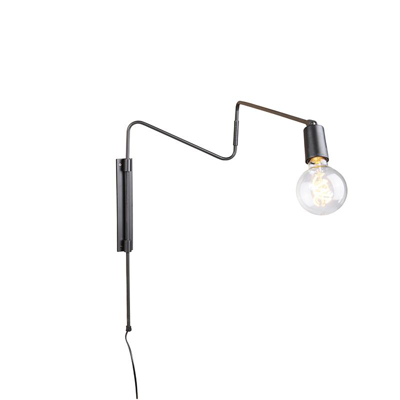 Industriele wandlamp antraciet 110 cm zwenkbaar - Serpenti