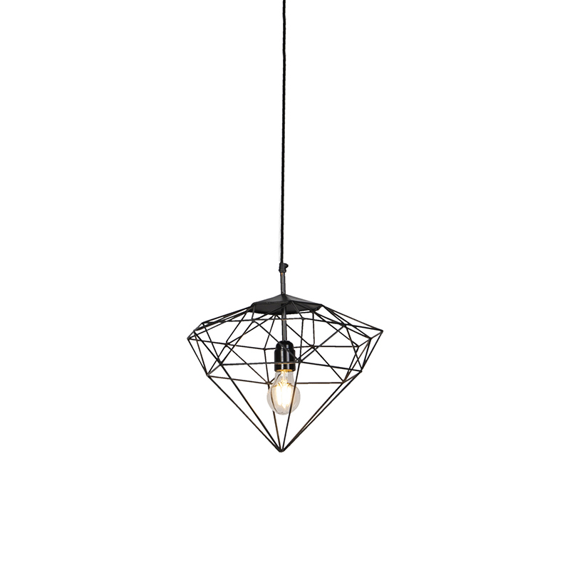 Industriele hanglamp donkergrijs 30 cm - Diamond