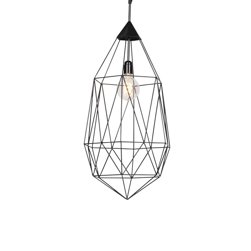 Industriele hanglamp donkergrijs 75 cm - Diamond
