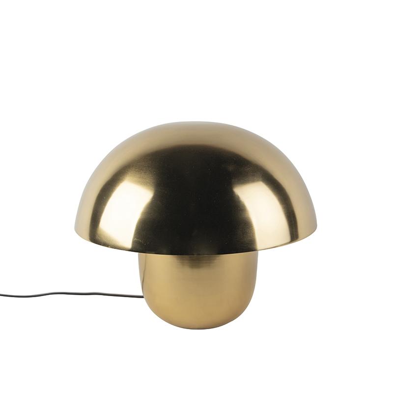 Moderne ronde tafellamp 40cm goud met witte binnenkant - Canta