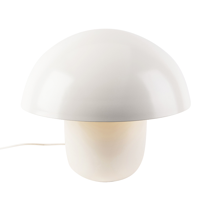 Moderne ronde tafellamp 50cm wit - Canta