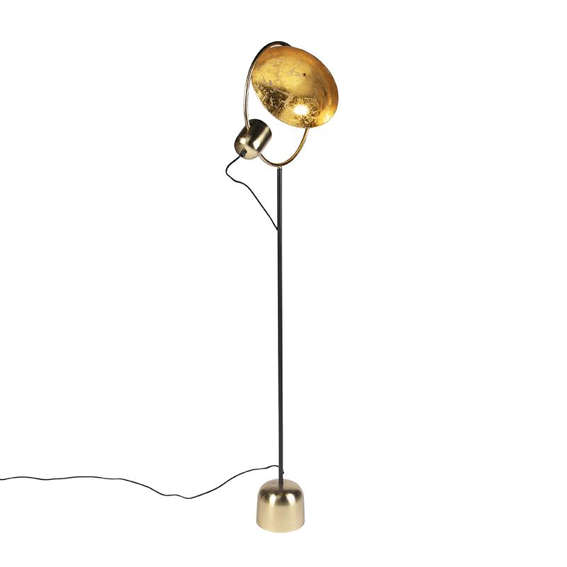Design vloerlamp goud met zwart - Cosmo