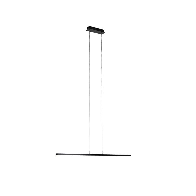 Moderne langwerpige zwarte hanglamp 90cm LED Banda