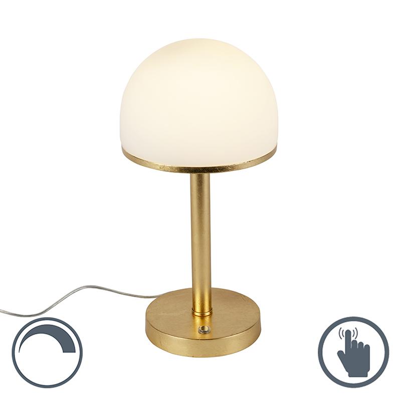 Vintage lampa stołowa złota zawiera LED dotykowa - Bauhaus