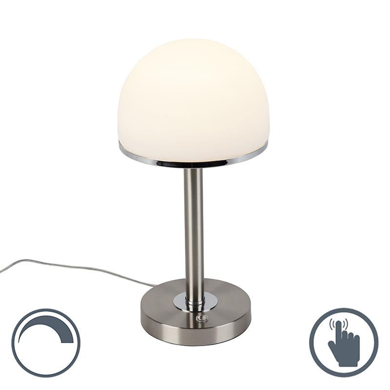 Vintage tafellamp staal incl. LED en touch - Bauhaus