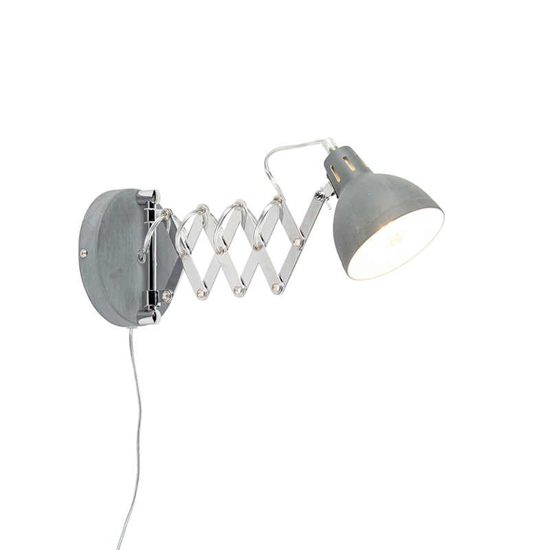 Industri�le wandlamp grijs verstelbaar - Forbici