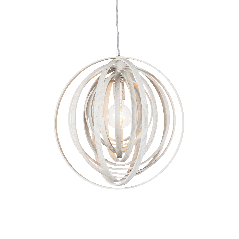 Design ronde hanglamp wit hout - Arrange