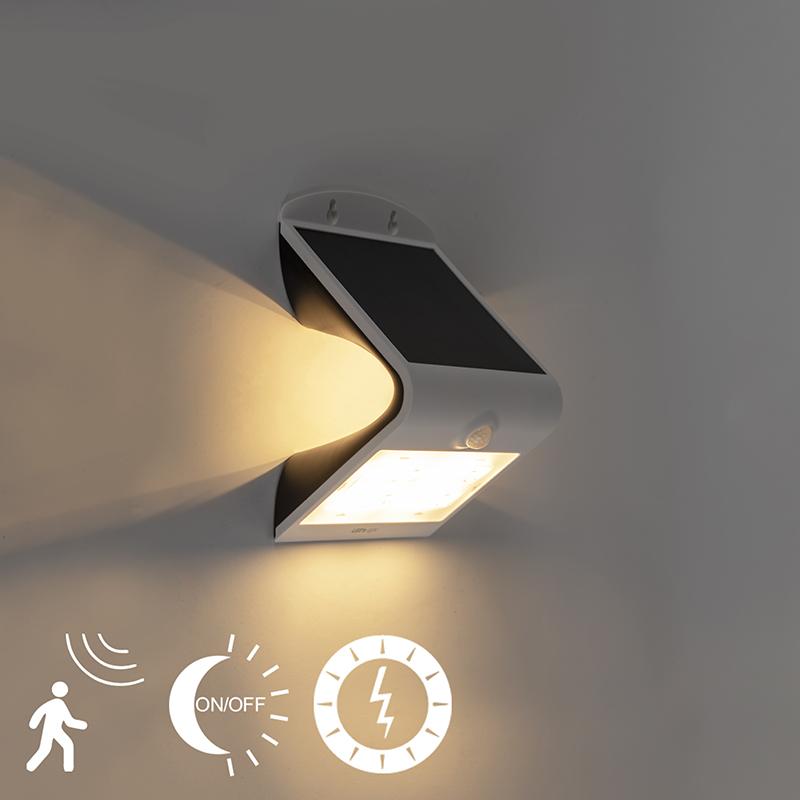 Solar straler incl. LED met beweging en licht-donker sensor 3,2W - Daya