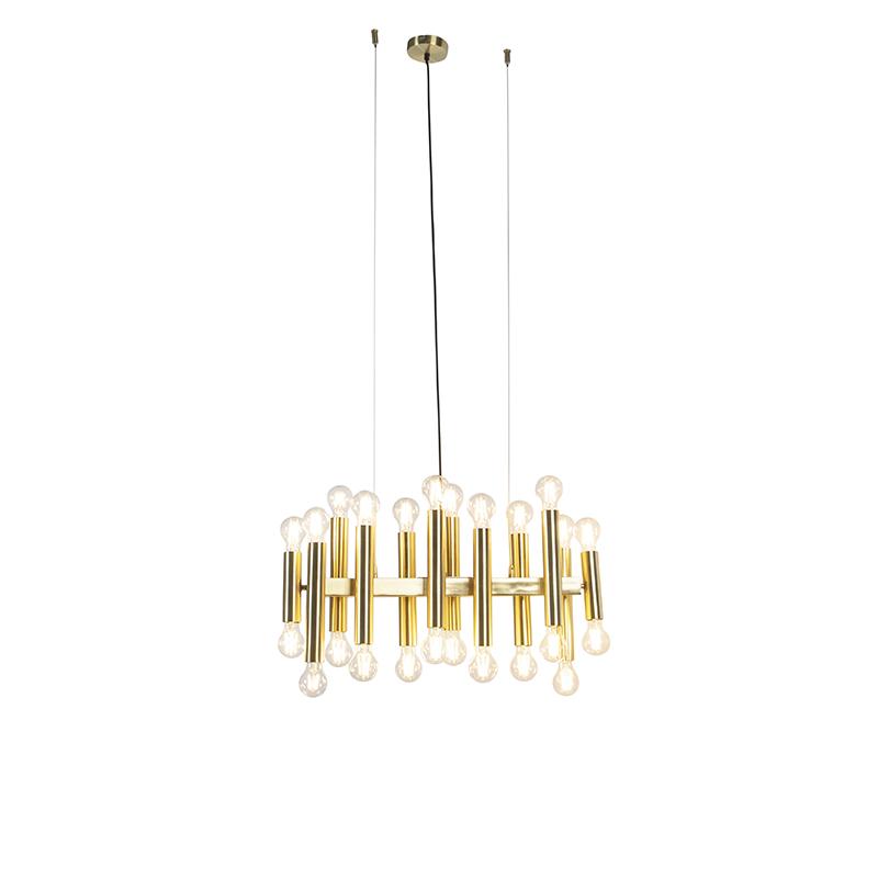 Lampa wisząca w stylu art deco złota 24-lampa - Facil