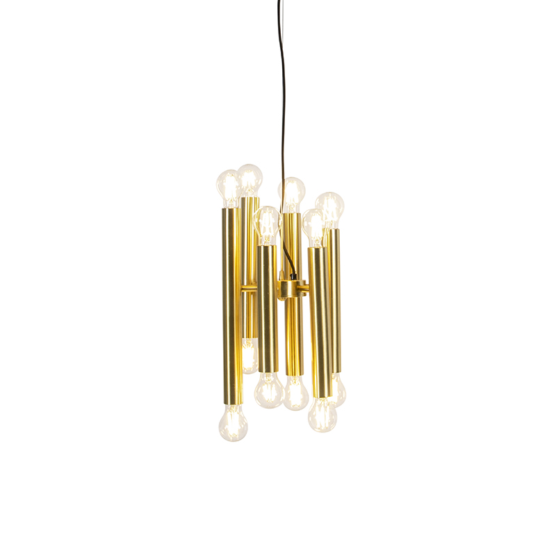 Art deco hanglamp goud 12-lichts - Facil