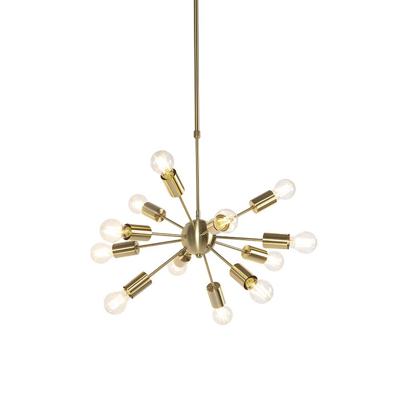 Art deco hanglamp goud 60 cm 12-lichts verstelbaar - Facil