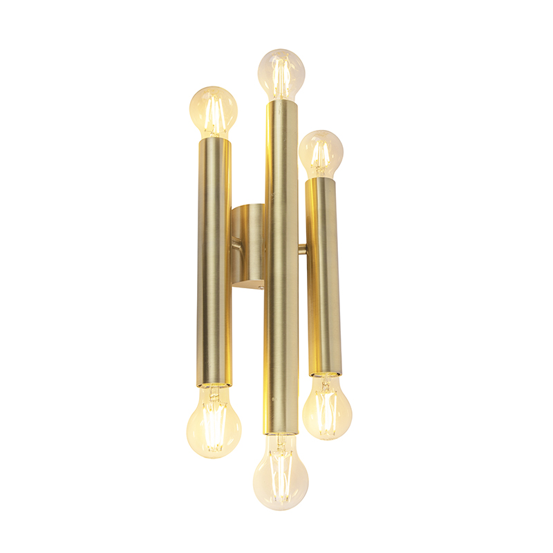 Vintage wandlamp goud 6-lichts -Facil
