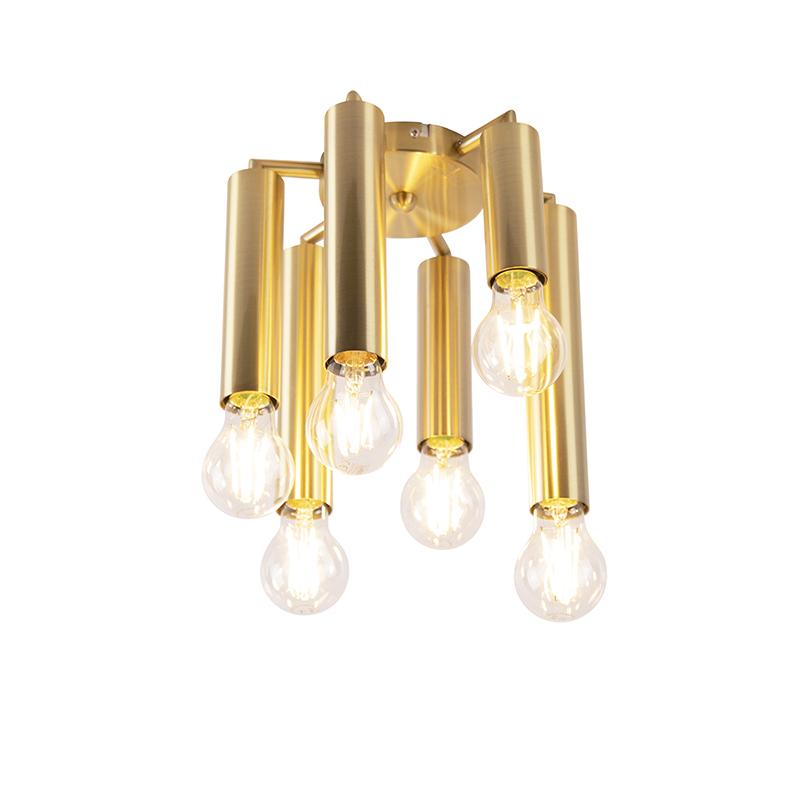 Art deco plafondlamp goud 6-lichts -Facil