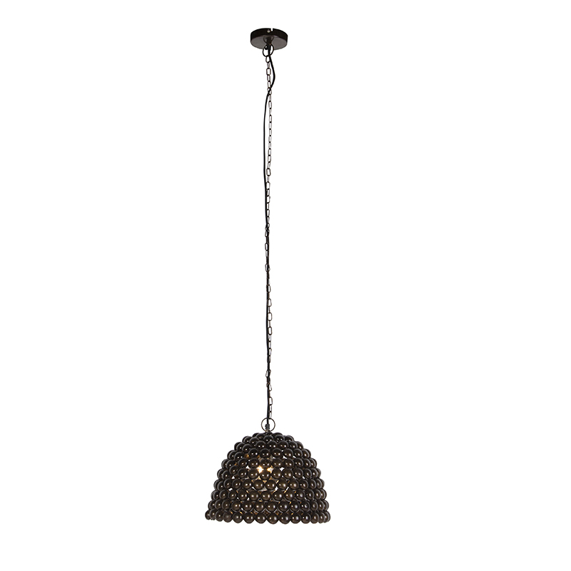 Vintage lampa wisząca 35cm stal - Lily