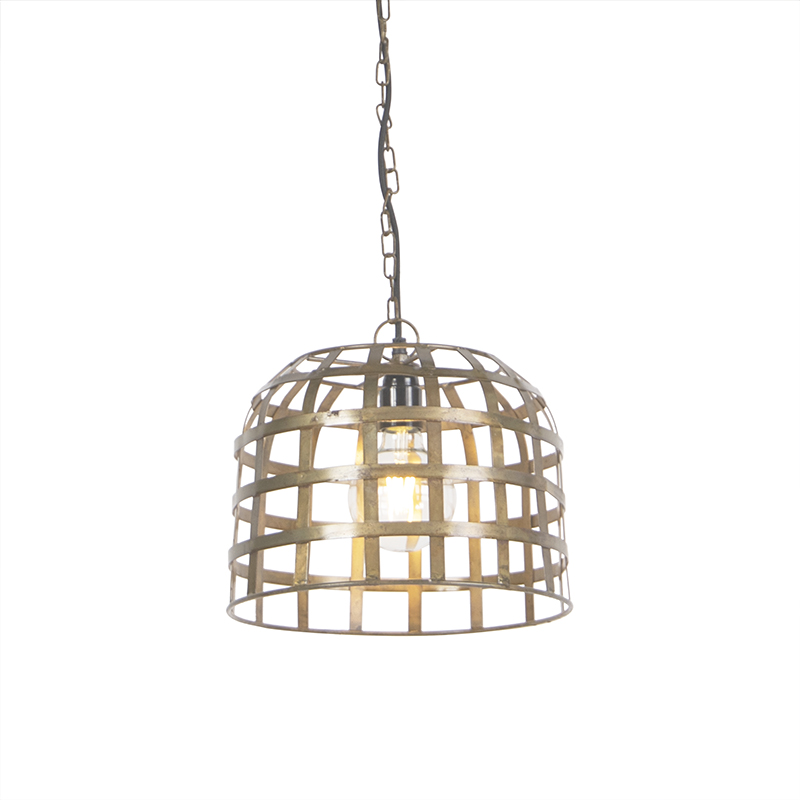 Industriele hanglamp 30cm brons - Fence