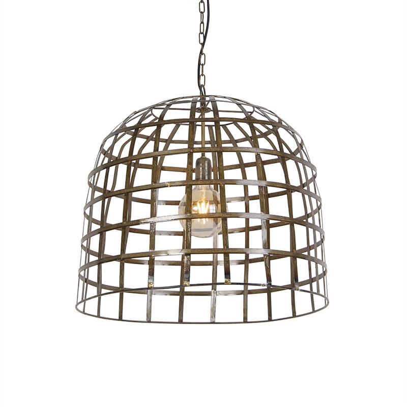 Industriele Hanglamp 60cm Brons - Fence