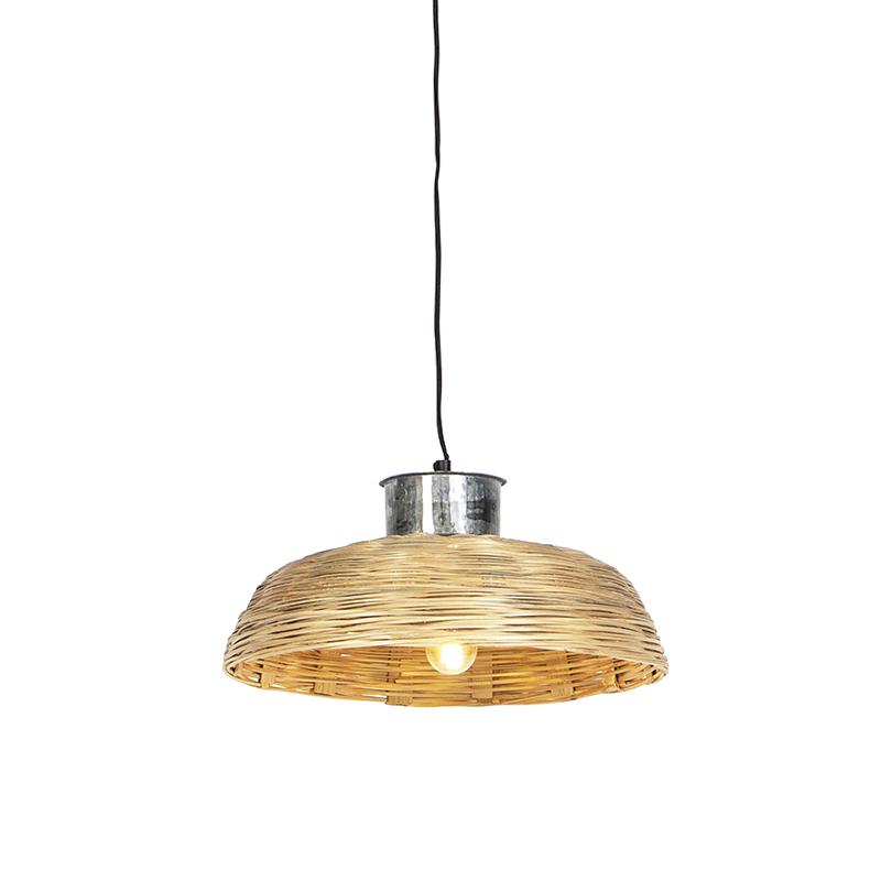 Landelijke hanglamp 40cm naturel bamboo - Barley