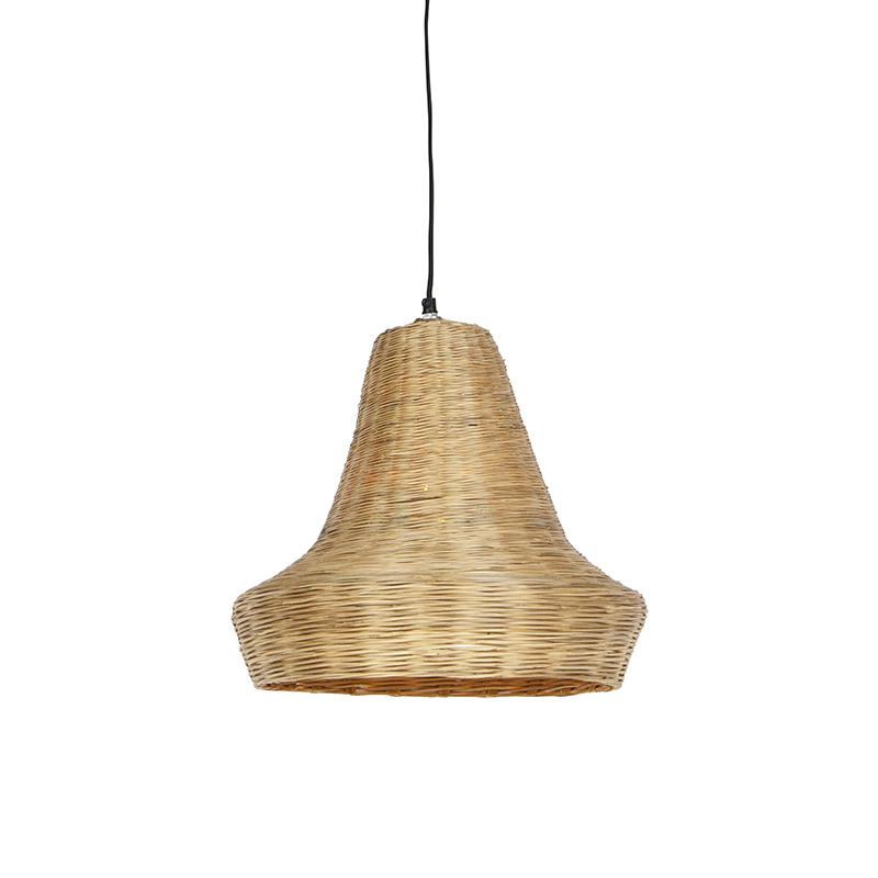 Landelijke hanglamp 40cm naturel bamboo - Lolium