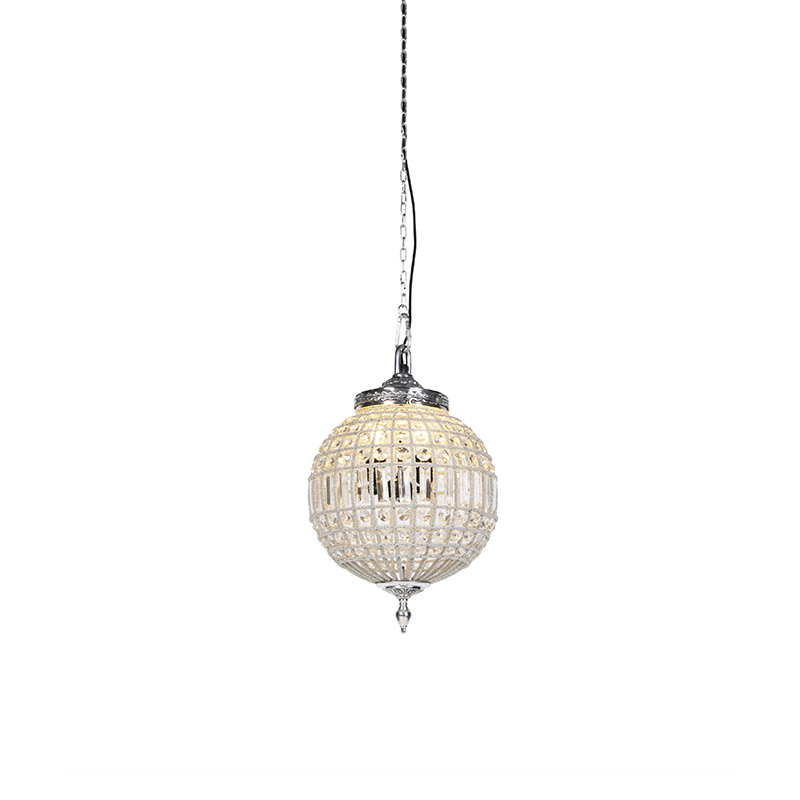 Art Deco hanglamp kristal 35 cm - Kasbah