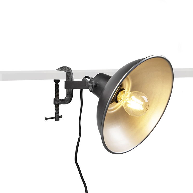 Industriele klemlamp antraciet - Mono