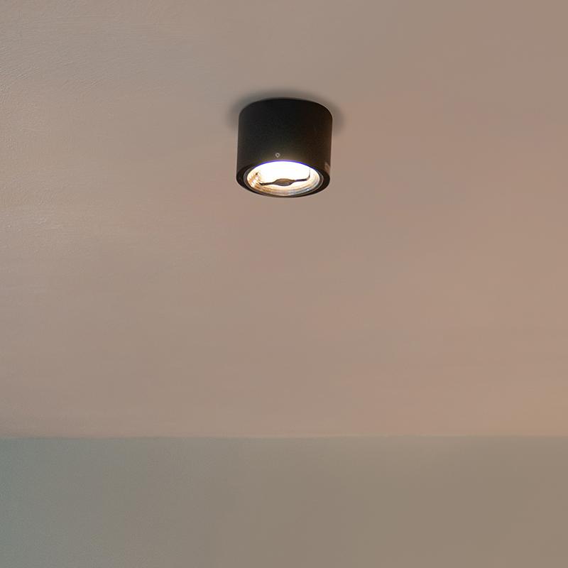 Moderne plafondspot zwart AR111 incl. LED - Expert