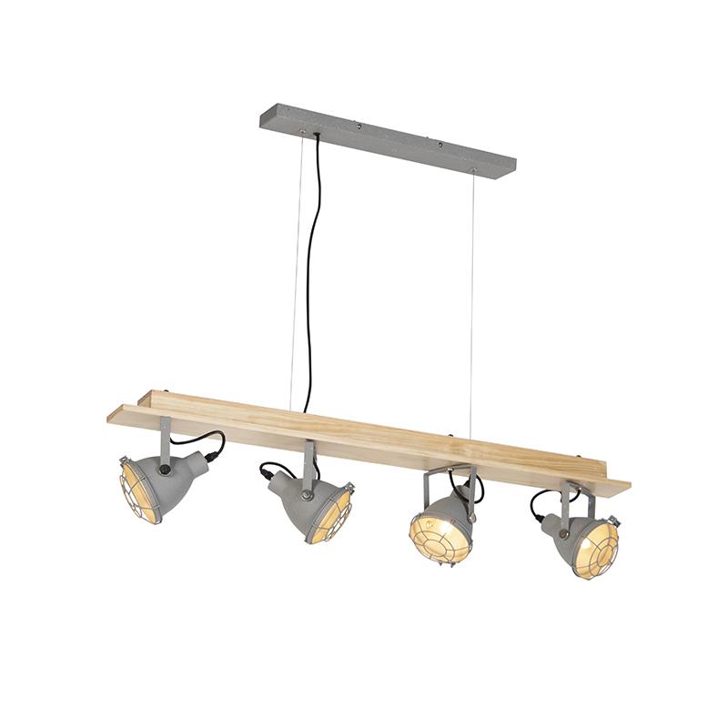 Przemysłowa lampa wisząca 4-jasnoszara - Antigo