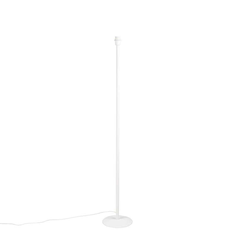 Nowoczesna lampa podłogowa biała bez klosza - Simplo