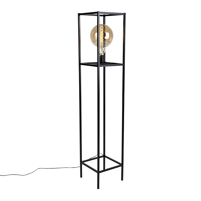 Przemysłowa lampa podłogowa czarna - Big Cage