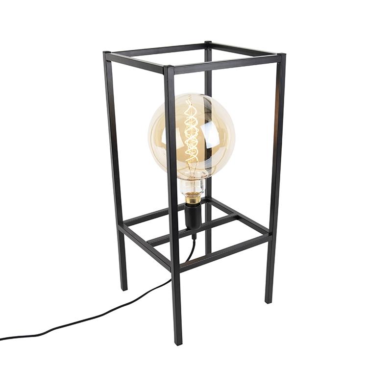 Nowoczesna lampa stołowa czarna - Big Cage
