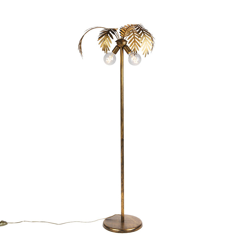 Vintage vloerlamp goud 2-lichts - Botanica