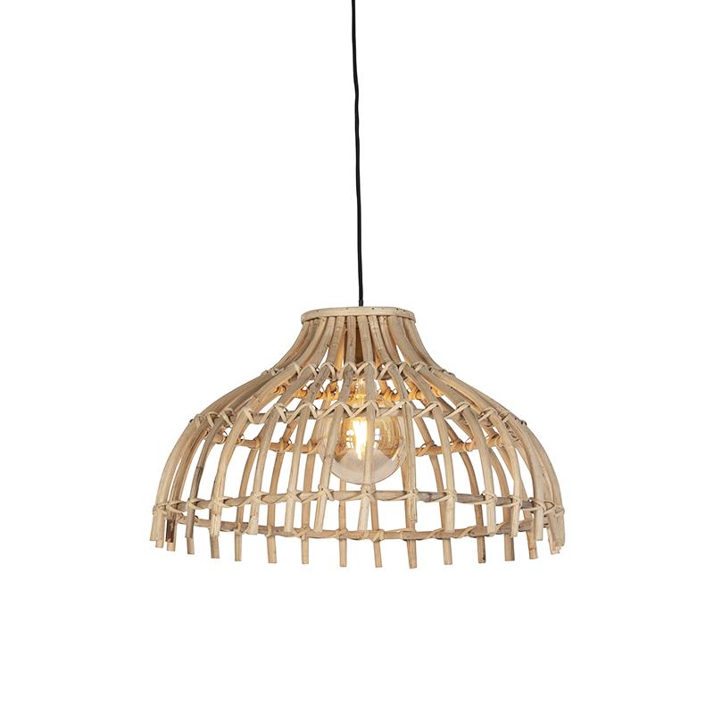 Landelijke hanglamp naturel bamboe - Cane Half
