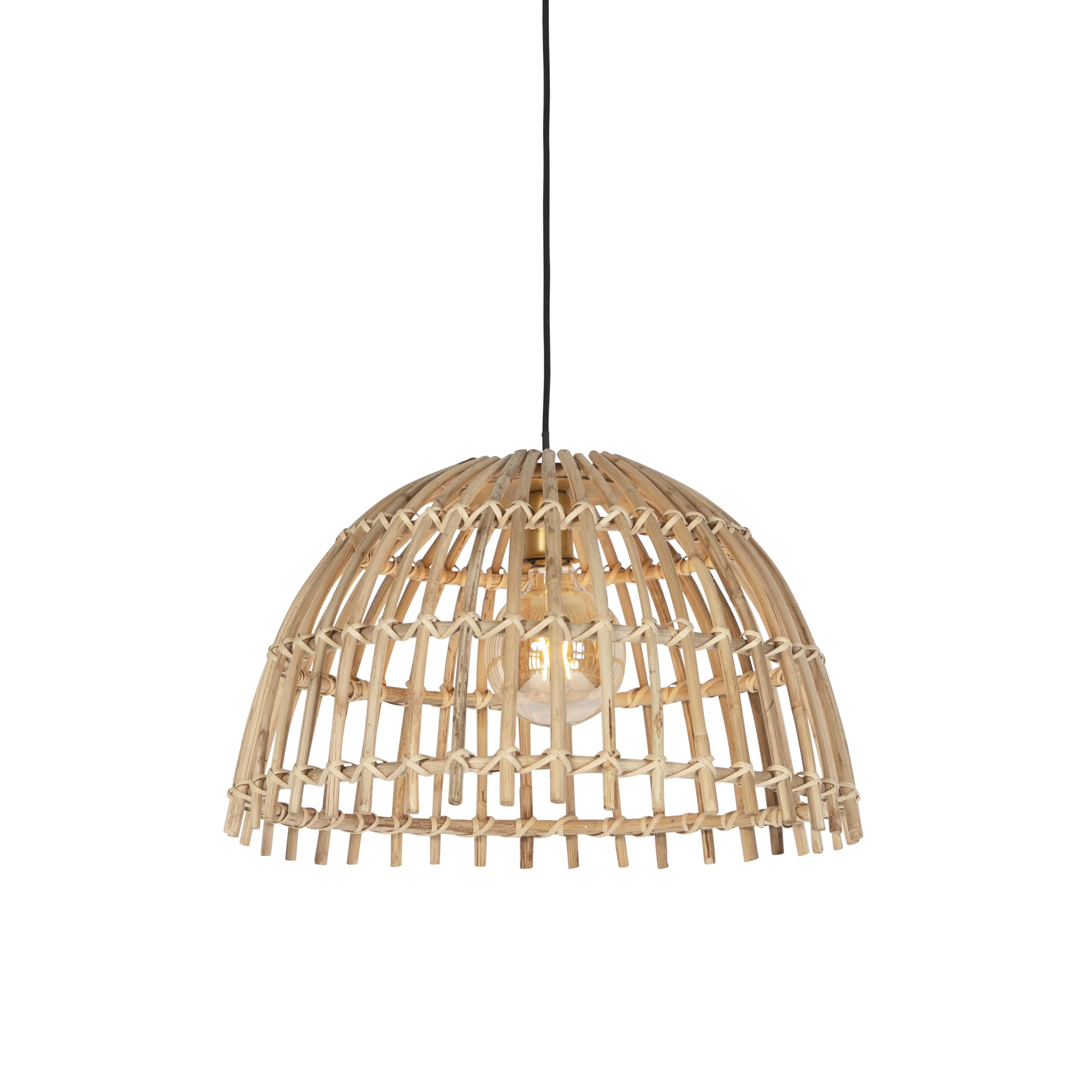 Landelijke hanglamp naturel bamboe - Cane Magna groot