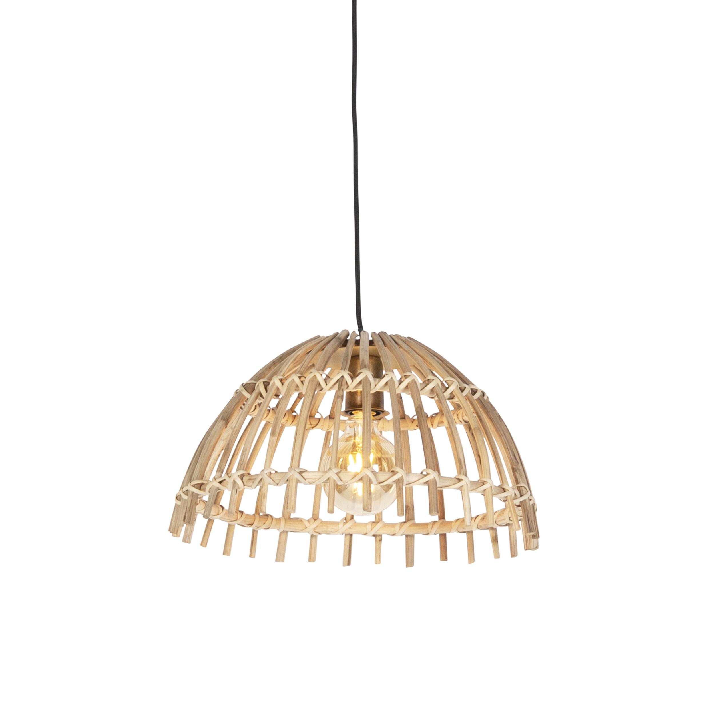 Landelijke hanglamp naturel bamboe - Cane Magna klein