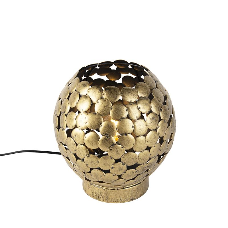 Vintage tafellamp oud brons - Frieda
