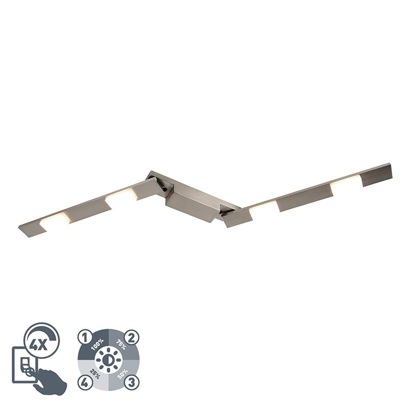 Moderne spot staal 4-lichts - Pizarro