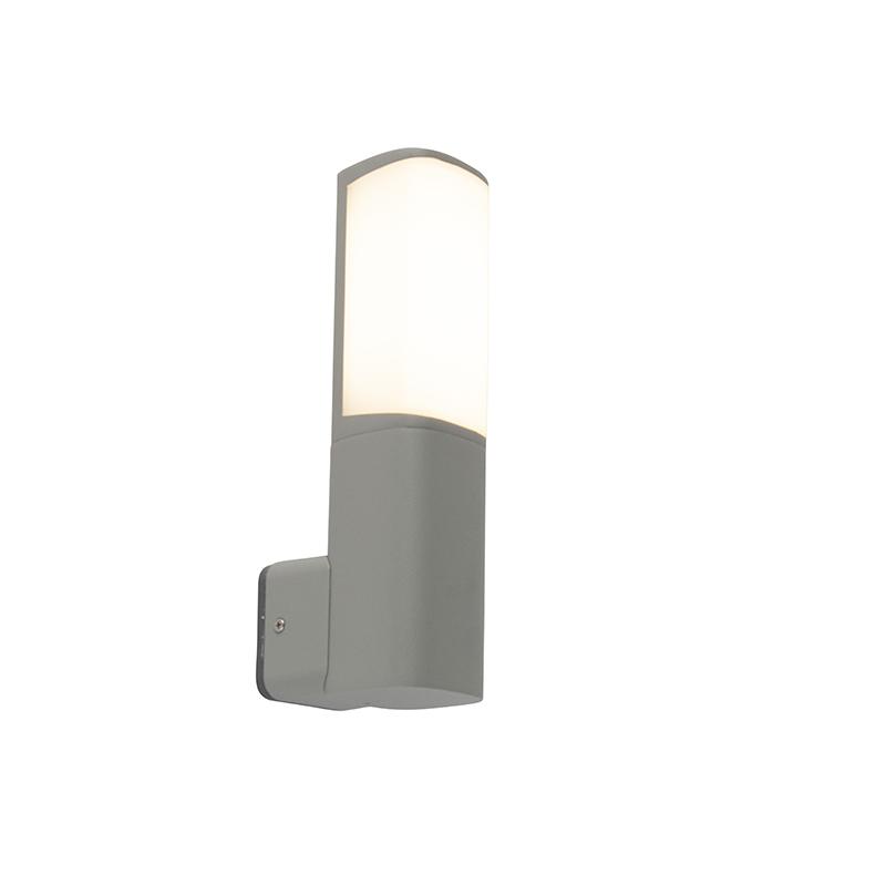 Moderne buitenlamp wand grijs incl. LED - Rico
