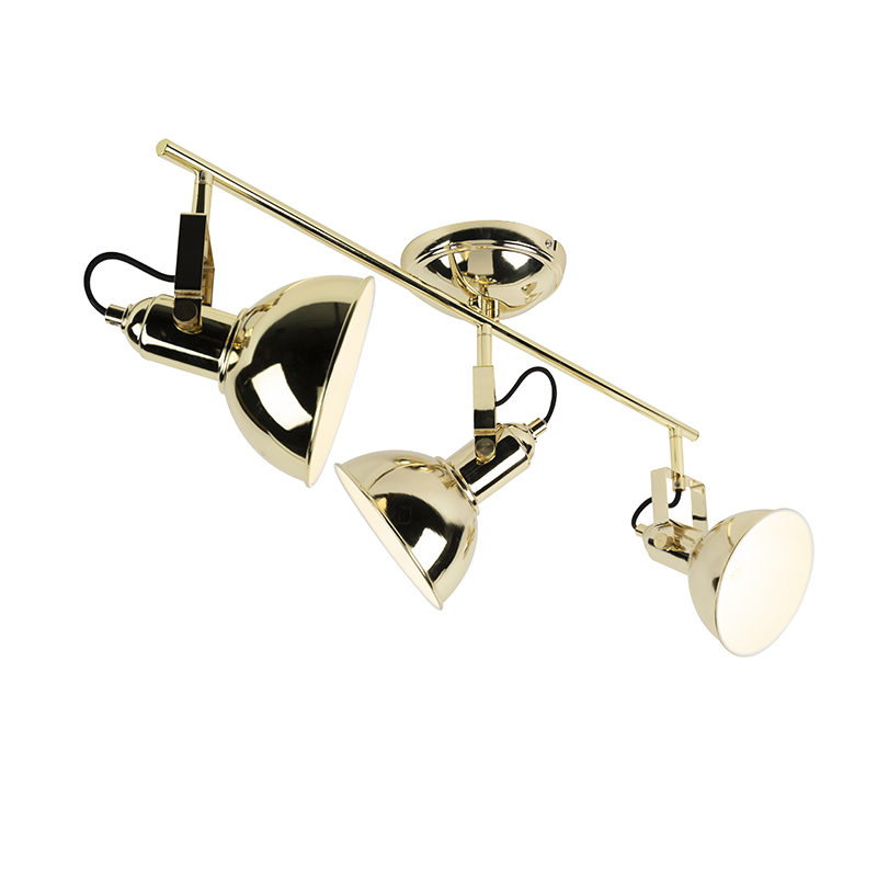 Industriele Spot Goud 3-lichts - Tommy