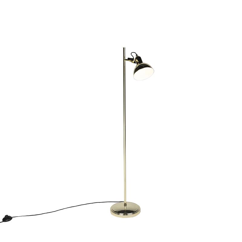Industriele Vloerlamp Goud 1-lichts - Tommy