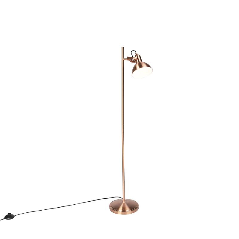 Industriele Vloerlamp Koper 1-lichts - Tommy