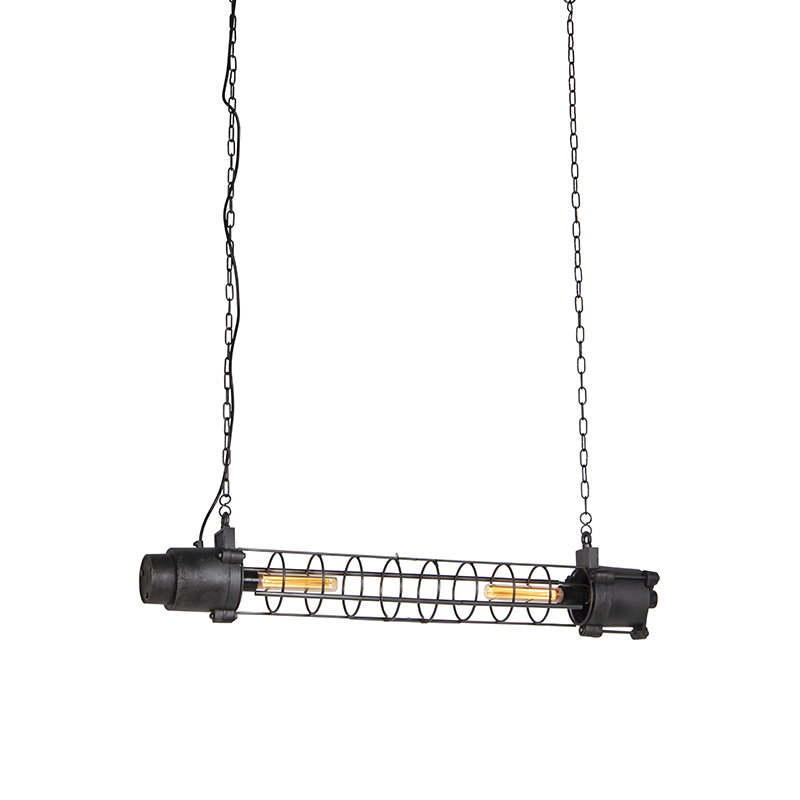 Industriele hanglamp antiek zwart - Fuze