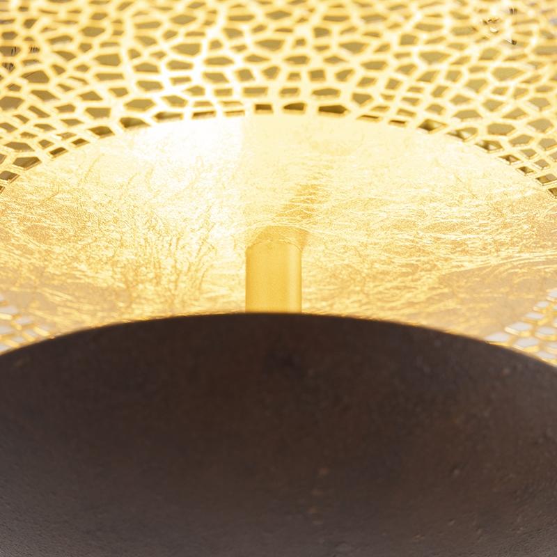 Landelijke plafondlamp 30cm incl. LED dimbaar via wandschakelaar - Kreta
