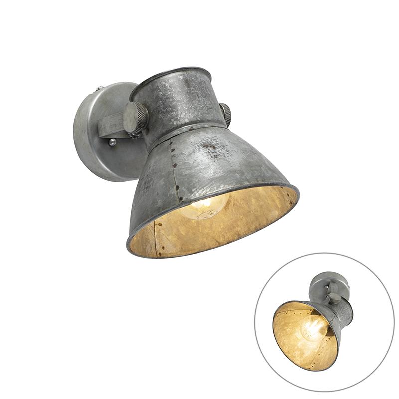 Industriële wandlamp grijs - Samia