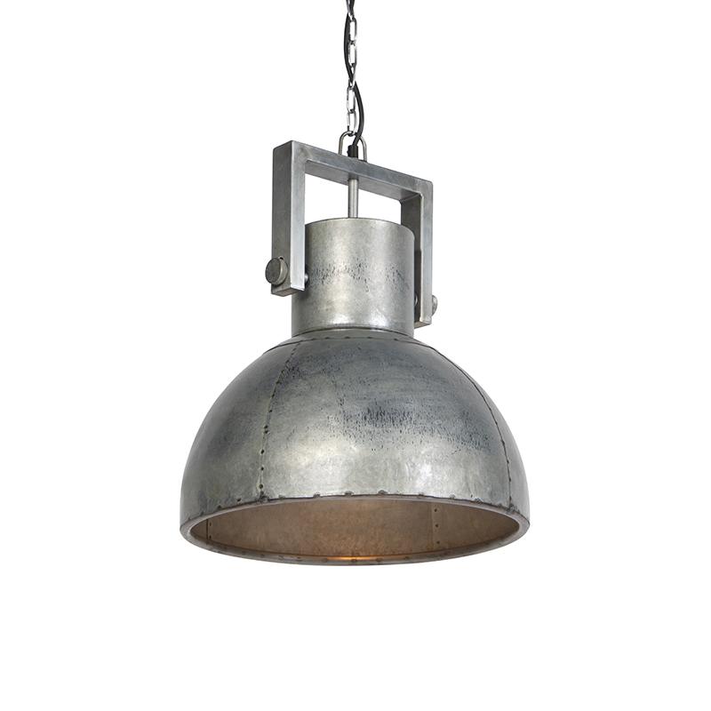 Przemysłowa lampa wisząca szara 40cm - Samia