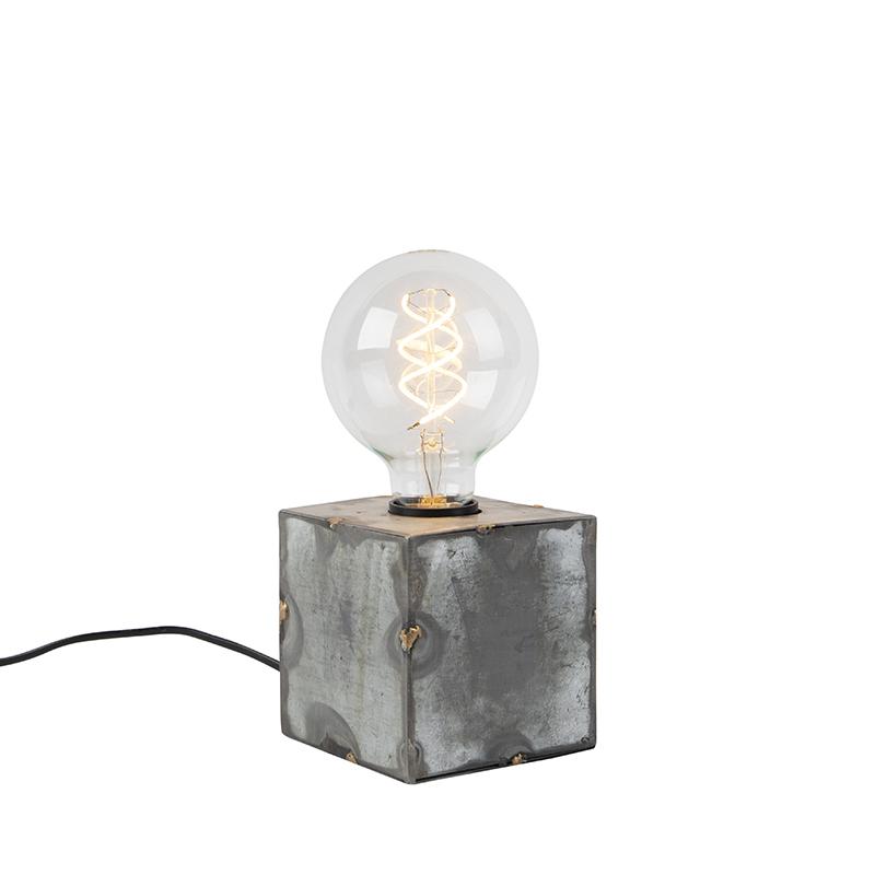 Industriële tafellamp grijs - Samia